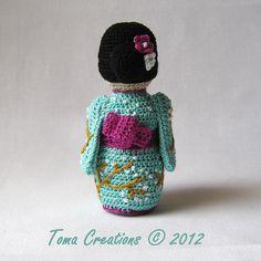 Amigurumi Geisha, Japanese Doll by Tamara Lazaridou