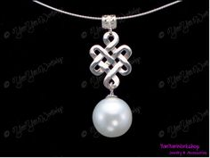 Sterling Silver Ru Yi Pearl Necklace 16 mm by YanYanWorkshop