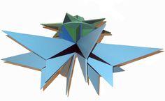 Rosini art gallery. Artist: Giacomo Balla. Futurist Flower / Fiore futurista  Polychrome wooden sculpture / Scultura in legno colorato Piece / Esemplare 4/40 1916/1930