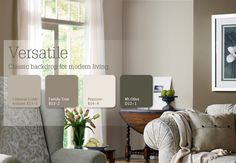 Versatile Grays provide a classic backdrop for modern living. #Inspiration #Color