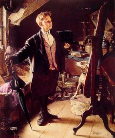 TOP HAT AND TAILS, By: Norman Rockwell