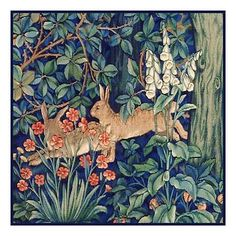 William Morris Forest Rabbits from Tapestry Counted Cross Stitch Chart