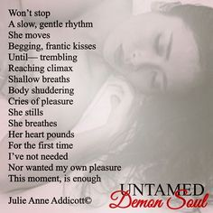 "8 Likes, 1 Comments - Julie Anne Addicott (@authorjulieanneaddicott) on Instagram: ""#foundpoetryfriday #nuromantics #nrrtg #paranormalromance #untamed #demonsoul"""