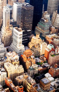 The Skyscrapers of New York City from Above