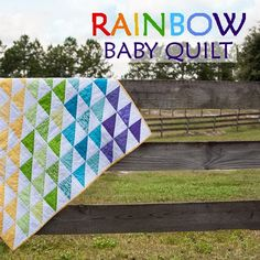 Rainbow Baby Quilt Tutorial...this is a great tutorial. I just completed it. I just wish there were detailed instructions on the binding. I really enjoy this pattern