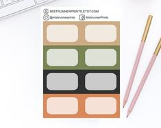 Gold and Copper Vertical Half Box Planner Stickers Set for Erin Condren Planner Happy Planner Personal Planner Travelers Notebook Personal Planners, Mini Hands, Erin Condren, Weekly Planner, Travelers Notebook, Happy Planner, Planner Stickers, How To Draw Hands, Etsy Seller
