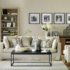 Black and neutral living room | Living room decorating | Ideal Home | Housetohome.co.uk