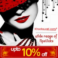 Beautiful faces with well formed mouth and lips are what attract attention. Adding style and glamour to your face with well defined lips is what we do with lip makeup.  Visit for buy:- http://khoobsurati.com/make-up/lips