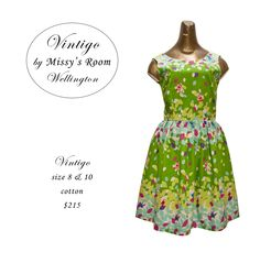 New dress, made by us in Wellington, from medium weight cotton. Sorry, this Dress has SOLD