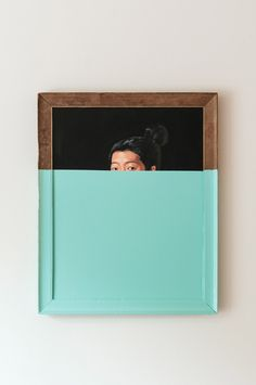 Oliver Jeffers | do this with old paintings from Goodwill...