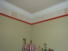 Sports Borders for Bedrooms   Hand Painted Sports Theme Border