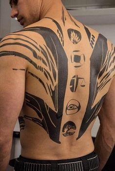 Fours Tattoos. Why is the abnegation symbol different?