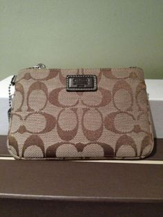 Coach Wristlet Light Brown for SALE! Ending soon!