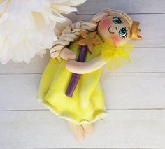 Lemon yellow Princess Girl Handmade Keepsake Gift by MyCraftlandia