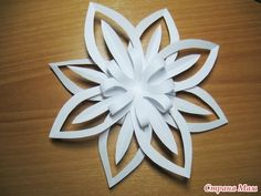christmas craft ideas: paper snowflake flower tutorial - crafts ideas - crafts for kids