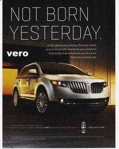 LINCOLN MKX 2011 magazine ad print art clipping car automobile advertisement