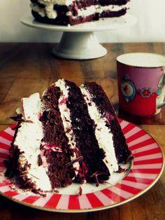 love affair on a plate: sierpień 2012 Cupcake Cakes, Cupcakes, Black Forest Cake, Love Affair, Dessert Recipes, Desserts, Tiramisu, Sweet Tooth, Plates