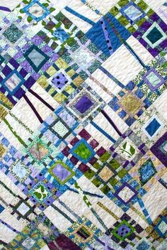 Modern quilt: Winter Flow. Appropriate name. This pattern in these colors put me in the mind of the spring thaw when the ice breaks up on the St. Croix River.