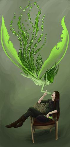 Green Fairy by Sanguisa.deviantart.com on @deviantART