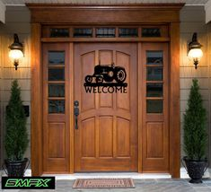 Welcome tractor home decore metal sign farm sign by SCHROCKMETALFX