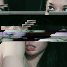 Glitch artwork - utlises digital / analog errors, by  corrupting or physically manipulating electronic devices