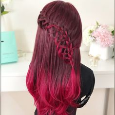 Waterfall French Braid ❤️ Do you like? Let me know with a comment and subscribe #haircolor #hair #hairsandstyles #hairstyles #hairgoals #hairfashion #redhair