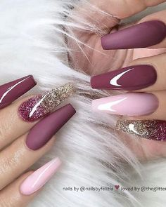 46 elegant acrylic ombre burgundy coffin nails design for short and long nails -. - 46 elegant acrylic ombre burgundy coffin nails design for short and long nails – – - Best Acrylic Nails, Acrylic Nail Designs, Acrylic Nails Coffin Ombre, Pink Coffin, Long Nail Designs, Ombre Nail, Red Nail Designs, Coffin Nails Long, Long Nails