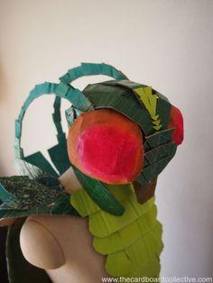 Cardboard Grasshopper Costume by Amber
