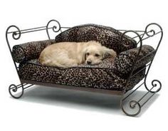 Wrought Iron Sleigh Bed Frames Pet Fabric Trouville Red Frame