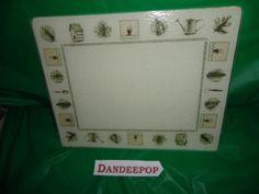 Pfaltzgraff Naturewood Glass Cutting Board 15 x 12 Kitchen decor find me at www.dandeepop.com