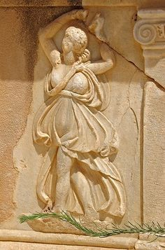 Dancer, relief of the stage (pulpitum), Roman theatre, Sabratha, Libya. Egypt Culture, Roman Theatre, Roman Era, Roman Sculpture, Minoan, 1st Century, Classical Art, Ancient Rome, Roman Empire