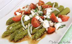 Deliciosa ensalada de espárragos verdes que será una cena estupenda y sana, la podéis ver en mi blog Julia y sus recetas