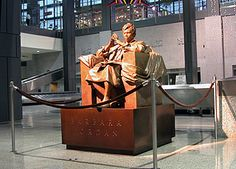 Barbara Jordan Memorial at Austin-Bergstrom International Airport by Bruce Wolfe | This life-sized bronze sculpture commemorates Barbara Jordan (1936-1996), professor at the University of Texas LBJ School of Public Affairs and a leader of the Civil Rights movement. She was the first African American elected to the Texas Senate after Reconstruction and the first southern black woman elected to the U.S. Congress. She received the Presidential Medal of Freedom, among numerous other honors.