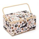 Sewing Basket: Rectangle Medium Sewing Box, Notions Sewing Baskets, Sewing Box, Mothers, Decorative Boxes, Medium, Handmade, Hand Made, Decorative Storage Boxes, Sewing Kits