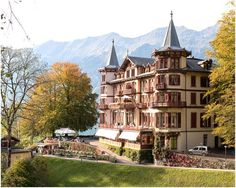 Grand Hotel #Giessbach is situated near Interlaken in the Swiss Alps and on the side of Lake #Brienz. I have worked here several times as a #wedding DJ. Here's a link to my #discjockey website: http://www.djswitzerland.com/