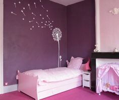 InnovativeStencils - Dandelion and Seeds Blowing in the Wind Wall Decal