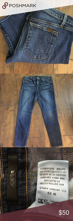 "Joe's jeans skinny ankle Super comfortable stretchy ankle length jeans.  29"" inseam Joe's Jeans Jeans Ankle & Cropped"
