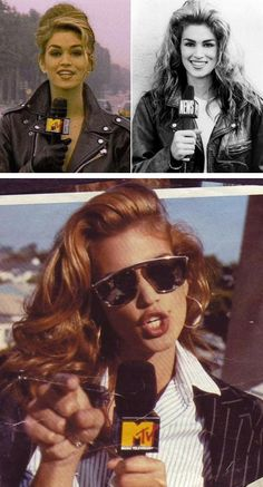 Cindy Crawford hosting House of Style on MTV.