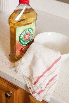 Make cleaning your wooden cabinets (and other wood in your kitchen) easy with Murphy's Oil Soap.
