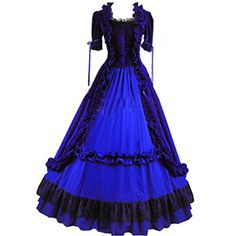 Partiss Women Lace Ruffles Gothic Victorian Fancy Dress C... http://www.amazon.com/dp/B00INMVAQ0/ref=cm_sw_r_pi_dp_vINpxb0PCNDJZ