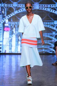 DKNY Spring 2015. Donna Karan may be stepping down, but she's leaving a true legacy. See all of her best runway looks.