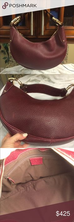 Selling this Authentic Gucci half Moon bamboo ring leather hobo in my Poshmark closet! My username is: b287807. #shopmycloset #poshmark #fashion #shopping #style #forsale #Gucci #Handbags