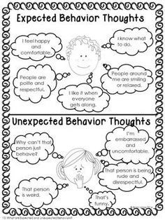 Expected And Unexpected Behavior Activities For Social