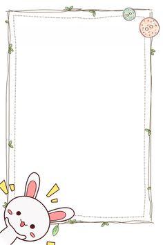 Imagen de fondo de dibujos animados lindo frontera Lindo Dibujos animados Frontera El conejo Dibujado Flower Background Wallpaper, Framed Wallpaper, Cute Wallpaper Backgrounds, Flower Backgrounds, Cute Wallpapers, Doodle Frames, Powerpoint Background Design, Background Templates, Page Borders Design