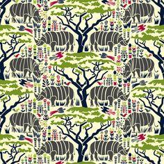 Dark Rhinoceros fabric by mag-o on Spoonflower - custom fabric