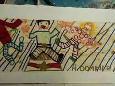 an amazing Bayeux Tapestry from Monday's 4:30 Art Club at Faux Arts