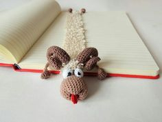 Cute gift for kids crochet bookmark  Amigurumi knitted bookmark