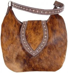 7b50702e2ba7 Brindle Cowhide Hobo Purse by Double J Saddlery Country Style