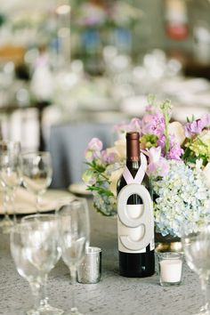 Create your free Wedding Website with over 160 customizable designs. Unique Table Numbers, Wedding Table Numbers, Winery Bridal Showers, Wedding Decorations, Table Decorations, Centerpieces, Wedding Colors, Wedding Flowers, Silver Table