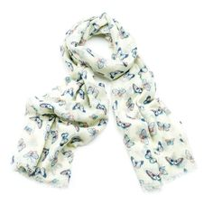 LADIES PRETTY BUTTERFLY  PRINT SOFT OVERSIZED SCARF WRAP COVER UP